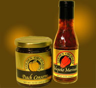 select 2 bottles or jars of Golden Orchard preserves, honeys and other products