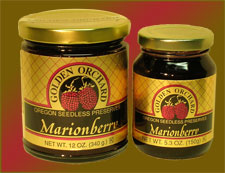 Golden Orchard's seedless Marionberry Preserves