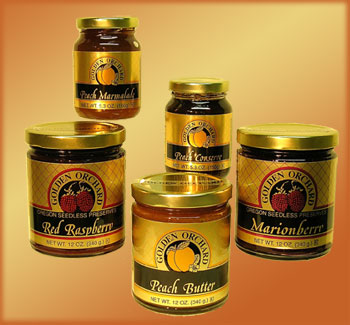 Golden Orchard's great selection of all-natural fruit spreads