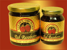 seedless Red Raspberry preserves, a lucious treat from Golden Orchard